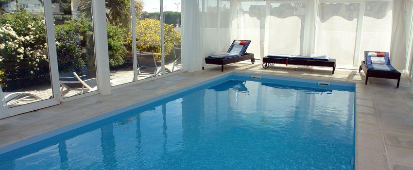 gite avec piscine intérieure chauffée